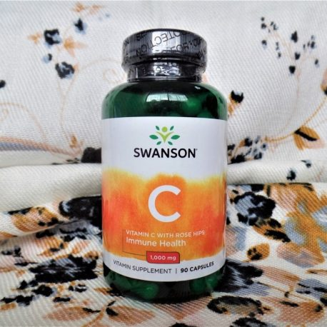 Swanson Vitamin C with Rosehips 1000 mg 90 caps